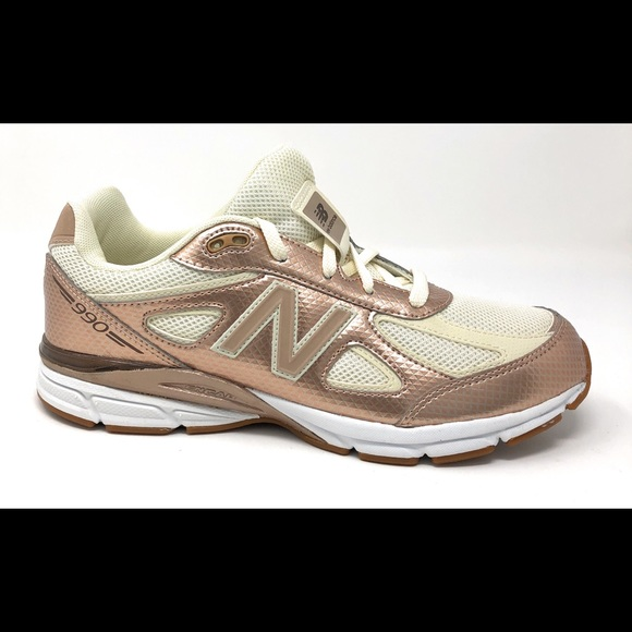 buy online 0ad24 a2268 New Balance 990v4 Big Girl Size 7Y Shoes Gold/Off